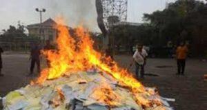 Ribuan Berkas Lembar Jawaban UN Tahun 2015 Dibakar