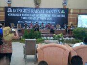 Wahidin Halim-Andika Hazrumy Sampaikan Visi Misi di Kongres Rakyat Banten