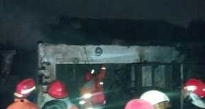 Kios Bensin Eceran di Pagedangan Meledak, Membakar Satu Keluarga