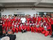 Rano Karno Tinjau Perlombaan Drum Band PON XIX