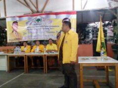 Dika Mahmudin Terpilih Sebagai Ketua PK Partai Golkar Kecamatan Cipondoh