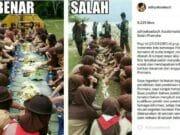 Anggota Pramuka Makan di Atas Tanah di Tangerang Jadi Viral di Media Sosial