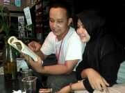 Diskusi Malam Pelatihan Jurnalistik di Kampung Literasi