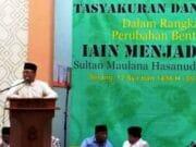 Zulkifli Hasan Hadiri Tasyakuran IAIN Banten Jadi UIN