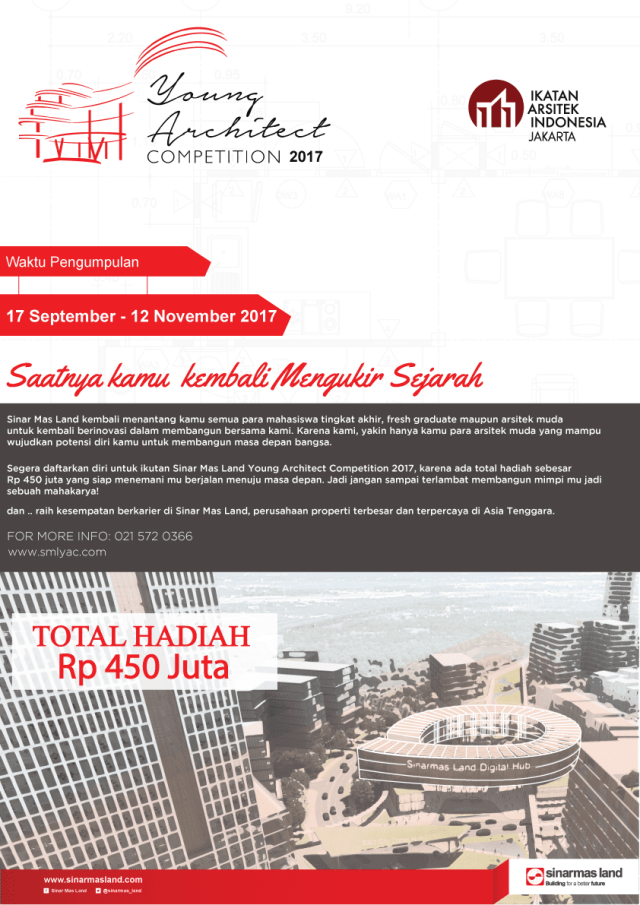 Sinar Mas Land Gelar Young Architect Competition 2017