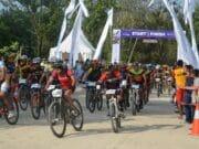 Chandra Rafsanjani Berhasil Finish Pertama di Ajang Mountain Bike Cross Tanjung Lesung