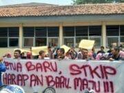 Pelantikan Ketua Baru STKIP Setia Budhi Rangkasbitung Diwarnai Demo Mahasiswa