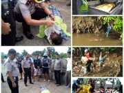 Kapolsek Ciledug Tangani Korban Anak Tenggelam di Kali Angke Kota Tangerang