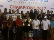 Tim Voli Putri Bank Jatim Rebut Gelar Juara PGN Livoli Divisi Utama 2017
