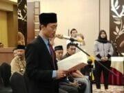 Ketua Panwaslu Kecamatan Tangerang Lantik Petugas Pengawas Pemilu