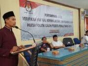 KPU Kota Tangerang: 15 Parpol Lolos Verifikasi, 1 Harus Perbaikan