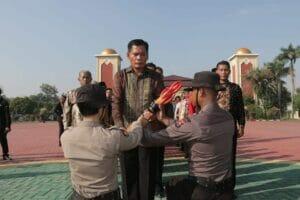 Lepas Purna Bakti Polri di Polda Banten Dihiasi Tradisi Pedang Pora Lepas Purna Bakti Polri di Polda Banten Dihiasi Tradisi Pedang Pora