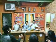 Panwaslu Sindang Jaya Sosialisasi Pengawasan Pemasangan Alat Peraga Pilkada Kabupaten Tangerang 2018