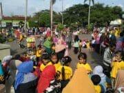 Antusias Ribuan Peserta Lomba Porseni Tingkat Paud dan TK Se-Kecamatan Karang Tengah Begitu Meriah