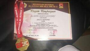 Aldito Sean Ghifary Raih juara pertama tingkat SD kejuaraan Nasional AL-AZHAR Seni Bela Diri Ke 2 Aldito Sean Ghifary Raih juara pertama tingkat SD kejuaraan Nasional AL-AZHAR Seni Bela Diri Ke 2