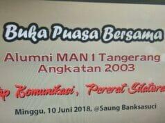 Sambung Tali Silaturahmi, Alumni MAN I Tangerang Akan Bukber di Saung Banksasuci