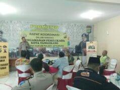 Polsek Jatiuwung Gelar Rakor Pengamanan Pemilukada Kota Tangerang