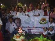 Tengah Malam di Depan Istana, Presiden Jokowi Dapat Ucapan Selamat Ulang Tahun dari Relawan