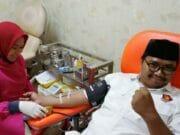 Bacaleg Gerindra Donor Darah Usai Daftar ke KPU