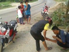 Kecelakaan Sering Terjadi di Jalan Raya Leuwidamar KM 08 Disebabkan Truk Mengangkut Pasir Basah