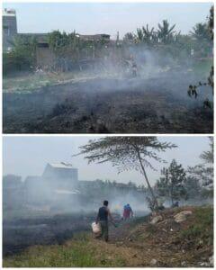 Kemarau Bakar sampah, Perumahan Dasana Indah Nyaris Terbakar