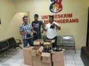 Operasi Cipkon, Polsekta Tangerang Amankan Ratusan Botol Miras