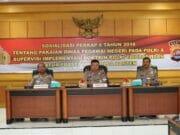 Supervisi Polda Banten Bahas Tentang Pakaian PNS Polri