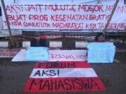 Aksi Jahit Mulut Dan Mogok Makan Mahasiswa, Tuntut Bubarkan BPJS