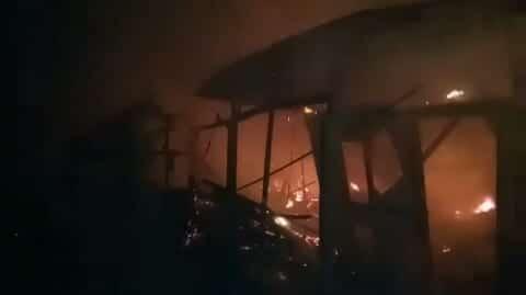 20 Bangunan Diatas Tanah Kemenkumham Habis Dilalap Api