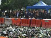 HUT Ke- 26 Kota Tangerang, Ribuan Botol Miras Dimusnahkan
