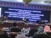 Paripurna Penyampaian LKPJ, Arief Sampaikan 4 Raperda Kota Tangerang