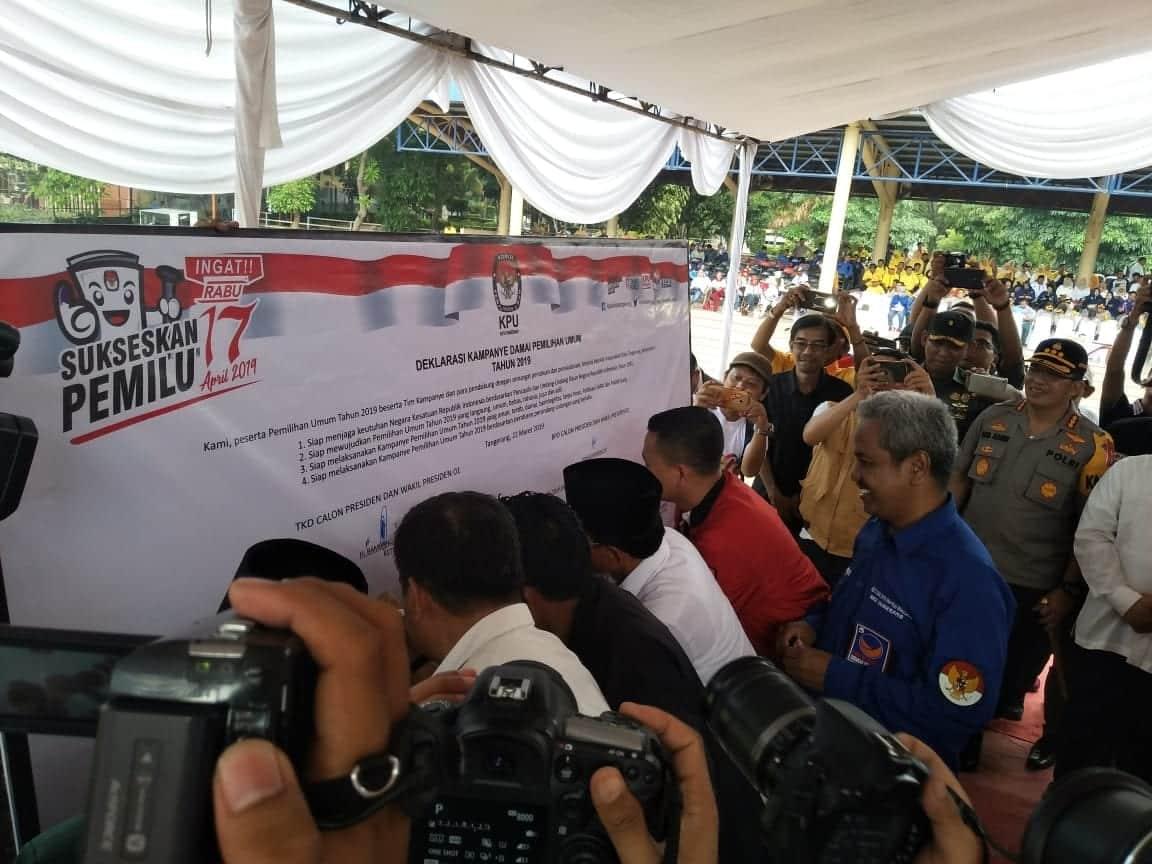 KPU Kota Tangerang Deklarasi Damai Jelang Kampanye Terbuka