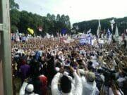 Di Kota Tangerang Kampanye Akbar Prabowo - Sandi Dibanjiri Puluhan Ribu Massa