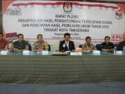 Rapat Pleno KPU Kota Tangerang, Kapolres Beri Apresiasi Pelaksanan Pemilu Kondusif