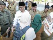 Hari Pertama Kerja, ASN, Gubernur dan Wagub Banten Berhalal Bihalal
