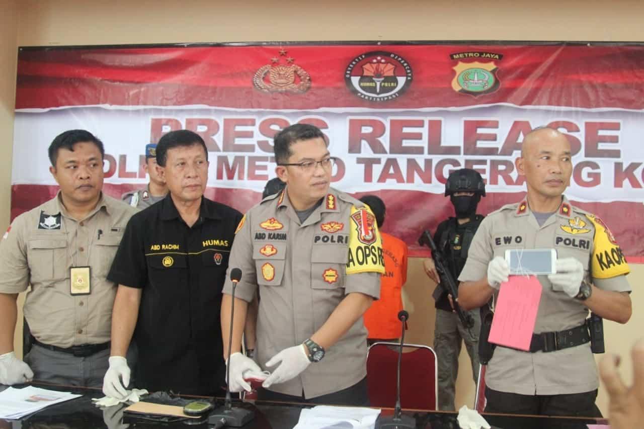 Polisi Ciduk Pemuda Terduga Pengedar Sabu di Tangerang