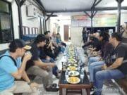 Kerjasama dan Sinergitas Kapolsek Jatiuwung Jumpai Awak Media