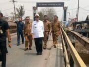 Sidak Tiga Jembatan di Tangerang WH Minta Pembangunan Dipercepat