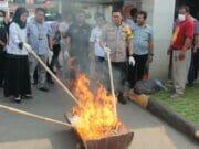 BB Pengungkapan Kasus Narkotika di Tangerang Dimusnahkan