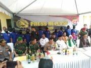 Jelang Nataru, Polda Banten Musnahkan 33.168 Botol Miras