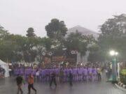 Hujan Deras, Karnaval Budaya HUT Kabupaten Tangerang Berjalan Lancar