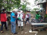 Pasca Banjir, PMI Kota Tangerang Semprot Desinfektan di Pinang