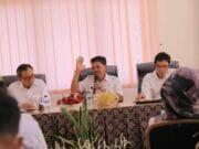 Rakor, Sachrudin Bahas Dampak Pembangunan Jalan Tol di Benda