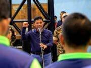 Sachrudin Buka Turnamen Tenis Meja di GOR Dimyati Kota Tangerang