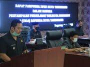 Arief Sampaikan Penjelasan Tiga Raperda di Paripurna DPRD Kota Tangerang