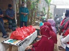 Muharram, PMI Pinang Berbagi Sembako dan Uang Tunai ke Dhuafa dan Anak Yatim