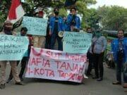 Geram Banyak Persoalan Tanah di Kota Tangerang, KNPI Demo Kantor BPN