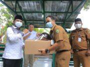 10.000 Face Shield Disebar Untuk Pengurus RW, Kelurahan dan Kecamatan se- Kota Tangerang