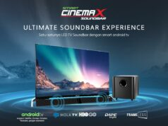 Smart Cinemax Soundbar LED TV Soundbar dengan Smart Operating System