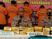 Polres Metro Tangerang Kota Ungkap Sabu 18,78kg, Kurir Diupah Rp200 Juta